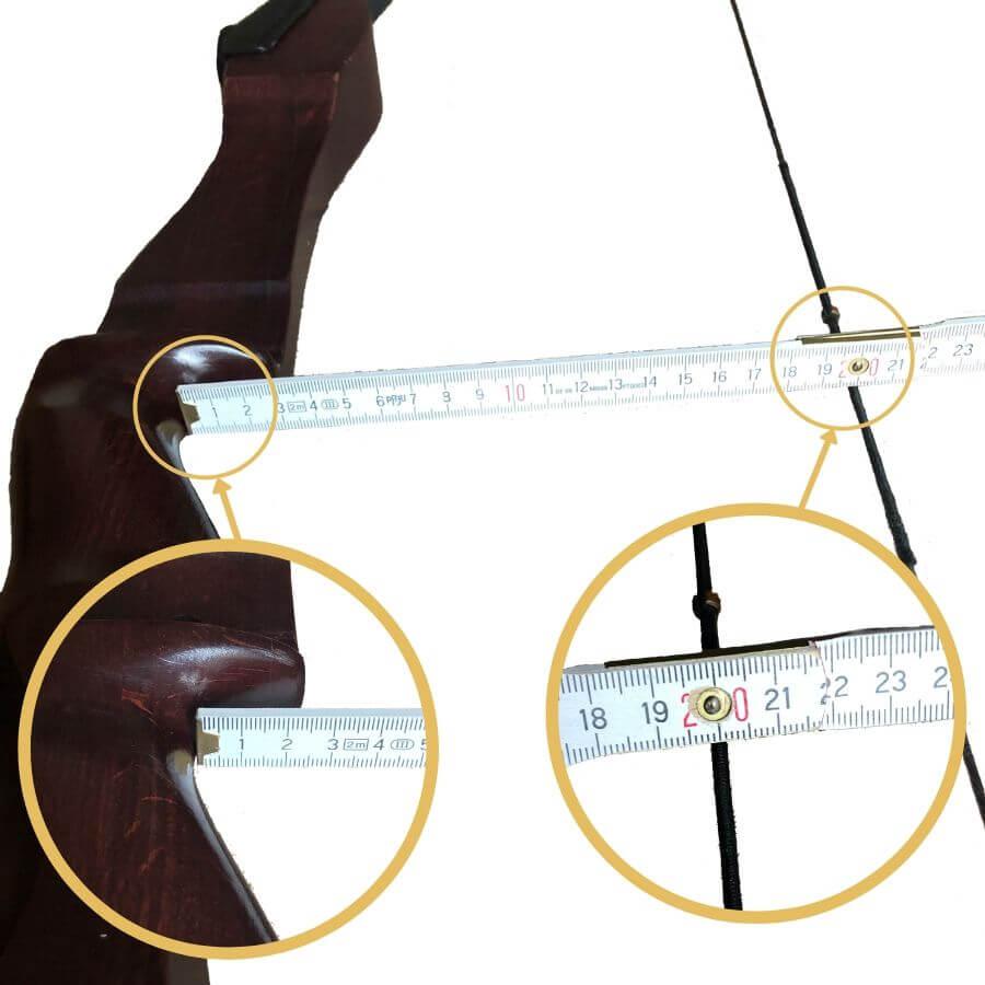 Standhöhe am Bogen messen mit einem Meterstab